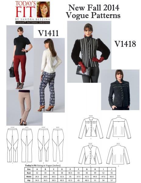 Vogue Patterns_New Fall 2014_V1411_V1418