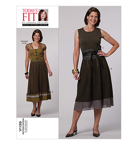 Vogue 1139- Misses' Skirt and Obi