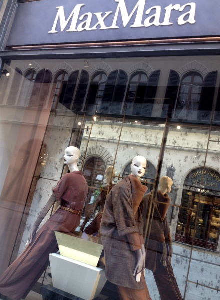 Max Mara window in Florence