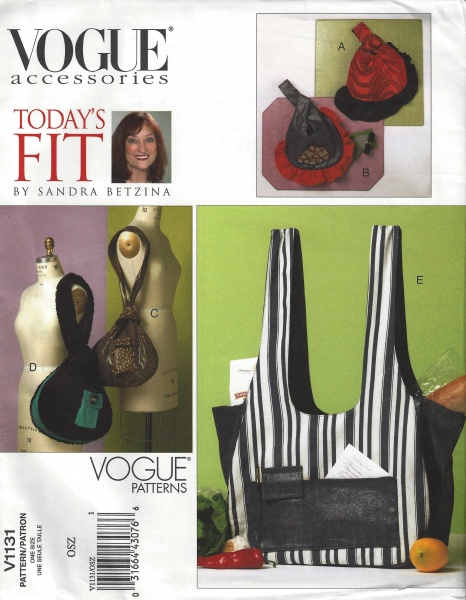 Vogue 1131 pattern-small & medium bags and market bags